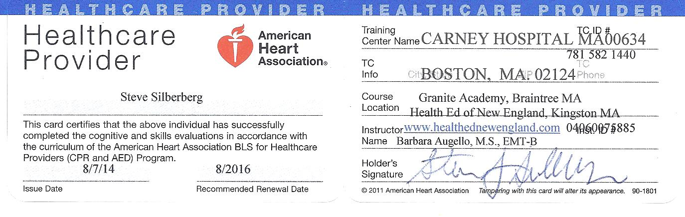 American Heart Association Cpr Card Template Letterjdi
