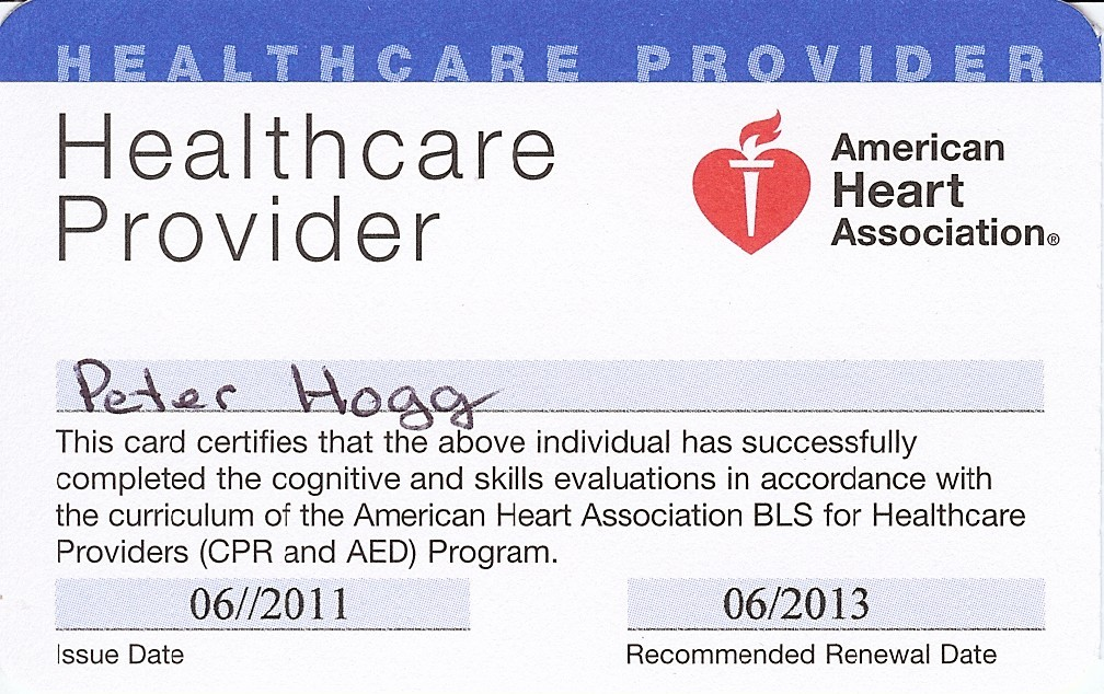 American heart association cpr card template for Cpr card template